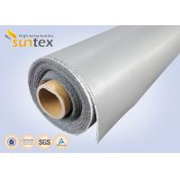 Cheap 0.3 Mm Thick Blue And Black Color Silicone Fiberglass Cloth Safety Curtain Fabric wholesale