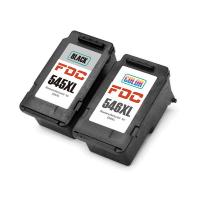 Cheap Recycled 2 - Pack Rebuilt Ink Cartridges For Canon  PG 545XL CL546XL Compatible wholesale