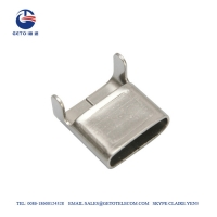 Cheap SS201 6.4mm 0.38mm 50M Stainless Steel Clip wholesale