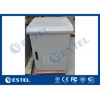 Cheap LED Lamp Pole Mounted Outdoor Battery Cabinet , Outdoor Communication Cabinets With Door Sensor wholesale