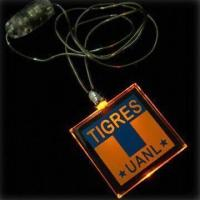 Cheap Square Plastic Flashing Necklaces, Measures 39 x 39 x 4mm, with Yellow LED wholesale