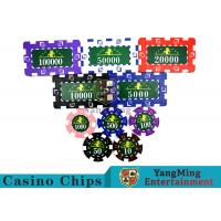 Cheap Translucent Marco Style Casino Poker Chip Set With Crystal Clear Texture wholesale
