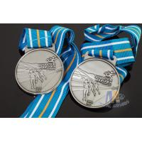Buy cheap Sports Skiing Event 3D Effect Metal Award Medals With Antique Silver Plating from wholesalers