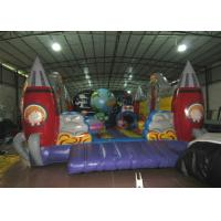 Cheap Custom Alien Spaceship Blow Up Bounce House , Little Tikes Inflatable Bounce House wholesale
