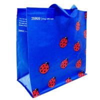 Cheap Woven Polypropylene Tote Bags for Supermarket , Blue Custom Printed Totes wholesale