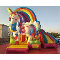 Cheap Kids Unicorn Jumping Castle With Cartoon Character Themes / Baby Bouncer Jumper wholesale