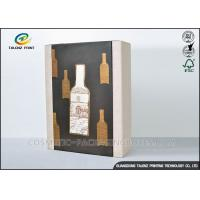 Cheap High End Paper Wine Box Gold Hot Stamping Finishing Hardcover Hand Box wholesale