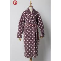 Cheap Women'S Dot Fleece Soft Bathrobe Plush Comfy Pajamas Warm Long Sleeves Robe wholesale