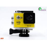 Ultra 1080P HD Gopro Action Camcorder , W9 Wireless Video Camera For Sports Recording