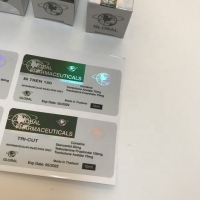 Buy cheap Custom Llaser 10ml Hologram Vial Labels And Boxes For Glass Bottle Packaging from wholesalers