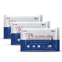 Cheap Antibacterial Disinfection Wet Wipes 40PCS Hand Cleaning With 75% Alcohol wholesale