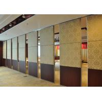 Cheap Steel Carpet Finish Folding Sliding Partition , Timber Partition Wall wholesale