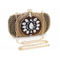 Cheap Vintage Retro Crystal Evening Clutch Bags Fashion Bead With Black Velvet wholesale