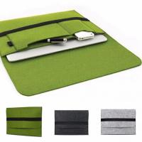 Cheap Felt Briefcase Covers / Padded Laptop Bag For 11.6 12 13.3 15.4 Inch Macbook air wholesale