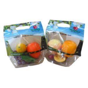 Cheap OPP Plastic Fresh Fruit Bags Transparent Plastic Package Zipper Containers PET wholesale