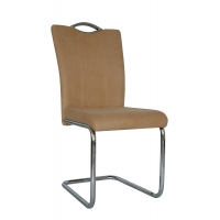 Buy cheap Chrome Plated Pu Handle Leather Parsons Chair from wholesalers