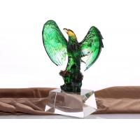 Buy cheap Jade Glass Chinese Liuli Winners Souvenirs With Glazed Eagles On Top from wholesalers