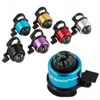 Cheap TOM104924 Aluminum Coloful Bicycle Bell with compass, Aluminum bycicle bell wholesale