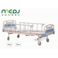 Cheap ABS Board Manual Hospital Bed , MJSD05-01 2 Cranks Medical Adjustable Bed wholesale