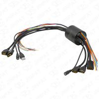 Cheap IP54 13 Circuits Through Bore Slip Ring Transferring Current Signal HDMI USB2.0 Signal Simultaneously for HD Equipment wholesale