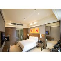 Elegant Five Star Luxury Hotel Bedroom Funiture Set With Dark Veneer For Sale
