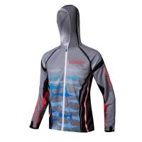 Cheap Grey Color Ice Fishing Clothes , Free Design Mens Fishing Hoodies wholesale