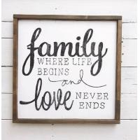 Cheap Family Love Words Wood Signs Home Decor , Personalized Wooden Signs For Home wholesale