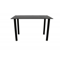 China Rectangular 4 Round Legs Odm 8mm Tempered Glass Top Dining Table on sale