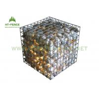 Corrosion Resistance Welded Gabion Rock Wall CagesFor Decoration Wall / Flood Control