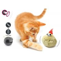 Electronic Auto Motion Bouncing Battery Operated Pet Toys With Plush Cover