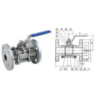 3/4 Inch 150LB SS304 Full Bore 3PC Flanged Ball Valve With ISO 5211