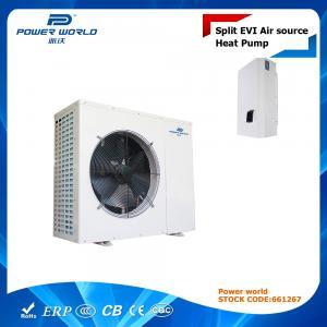 Cheap Air To Water Split EVI Heat Pump For Underfloor Heating / Plate Heat Exchanger For Indoor Unit wholesale