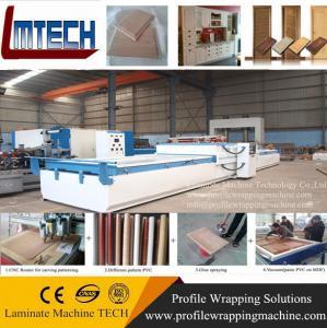 Cheap high gloss vacuum press film door vacuum membrane press machine wholesale