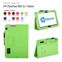 Cheap PU Leather HP Elite Pad 900 G1 Tablet Leather Cases Green With Lichi Pattern wholesale