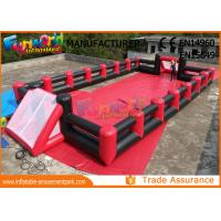 Cheap Fireproof Inflatable Soap Football Field With Digital Paiting EN71 wholesale