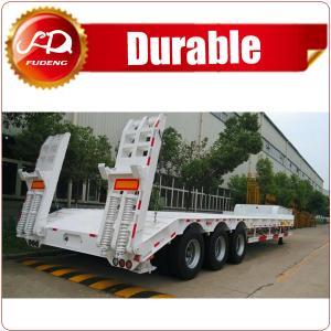 Cheap 3-axle Heavy duty Machinery Transport Low Bed Semi Trailer(Axle&Size Optional)/semi trailer/Flatbed semi trailer wholesale