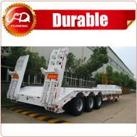 Cheap China shandong manufacturer 3 axle 60-80 tons Low bed semi trailer / low loader truck semi trailer / lowboy wholesale
