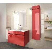 Cheap 80 Inch Red Single Bathroom Vanity , Good Stability Bathroom Vanity With Sink wholesale