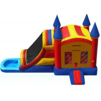 Cheap Funny Inflatable Bouncer Combo WIith Water Slide  , Toddler Blow Up Fun House wholesale
