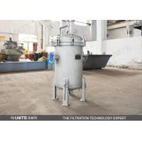 Buy cheap Single bag stainless steel filter housing / liquid bag filter 1 - 100microns from wholesalers