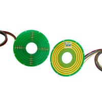 Cheap Pancake Small Slip Ring Integrated 100M Ethernet 240VAC For Indexing Tables wholesale
