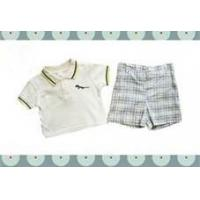 Cheap Short Sleeves 2 Pieces Casual Cotton Baby Layette Set Clothes For Summer wholesale