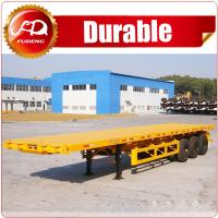 Cheap 3 axle 20ft flatbed semi trailer , flat bed trailer , 40ft container flatbed trailer for sale wholesale