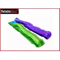 Cheap Tested Endless Polyester Web Sling For Pipe Lifting Safety Factor 7-1 Heavy Duty Slings wholesale