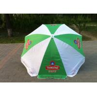 Quality Green And White Outdoor Sun Umbrellas UV Protection For Bar Street OEM ODM for sale