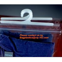 Cheap Disposable Laundry Bags , Vinyl Underwear Packing Hanger Hook Bags wholesale