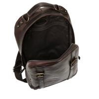 Quality Vintage Brown Leather mens Backpack Bag / Handmade Spacious Bags For Laptop for sale