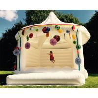 Cheap Custom Made Carpa Hinchable Inflatable Party Tent White Bouncy Castle For Wedding wholesale