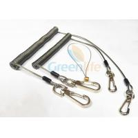 Strong Anti - Drop Spring Steel Coil Tool Lanyard In Transparent Black Color