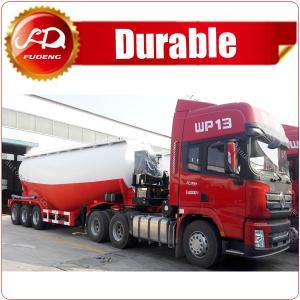 Cheap 55cbm 3 Axle Dry Bulk Cement Truck Powder Transport Tanker Semi Trailer wholesale